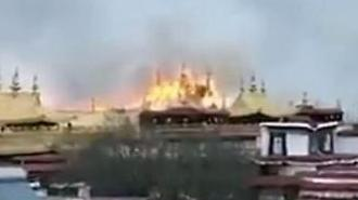 [아주동영상] 불길에 휩싸인 티베트 라캉사원...세계문화유산 화재에 아찔
