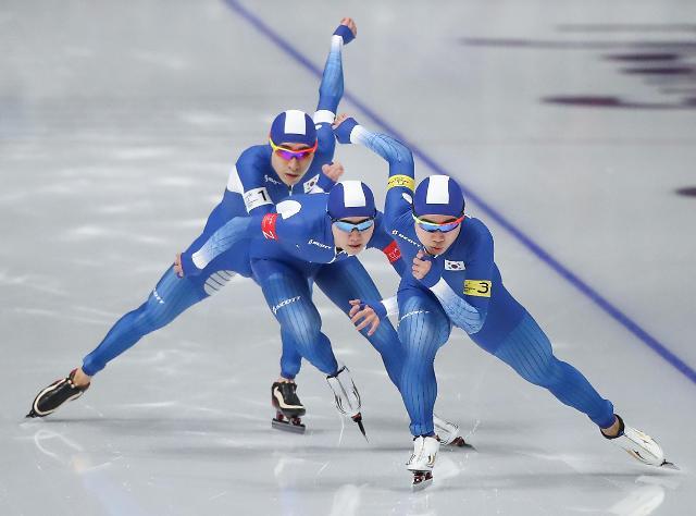 冬奥速滑男子团体追逐 韩国队晋级半决赛