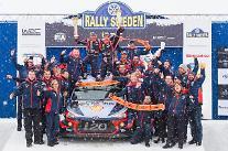 現代車、WRCスウェーデンラリーでシーズン初優勝