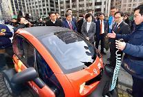 르노삼성, 우체국 친환경 배달차량으로 초소형 전기차 '트위지' 주행 시연