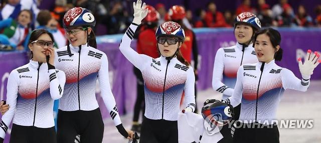 쇼트트랙 3000m 계주 '올림픽 2연패'
