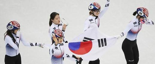 '24년간 독주' 쇼트트랙 여전사들, 3000m 계주 '올림픽 2연패'