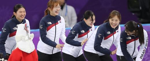여자 쇼트트랙 3000m 계주 시상대에 왜 한국만 5명?