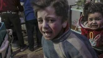 시리아 비극 언제까지..정부군 공습에 250명 이상 사망