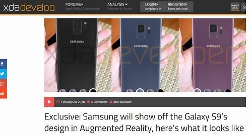 三星电子拟用增强现实技术公开Galaxy S9