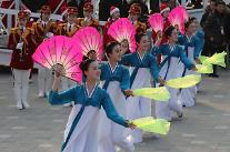 [포토] 북측의 부채춤 공연