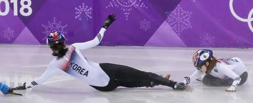 冬奥短道女子1000米 韩国双姝互撞错失奖牌