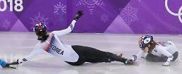 .冬奥短道女子1000米 韩国双姝互撞错失奖牌.
