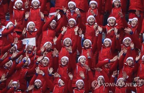 朝鲜体育代表团和啦啦队26日回国