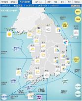 '날씨'제주,강원,경상최고3㎝'눈ㆍ비'..낮최고14도