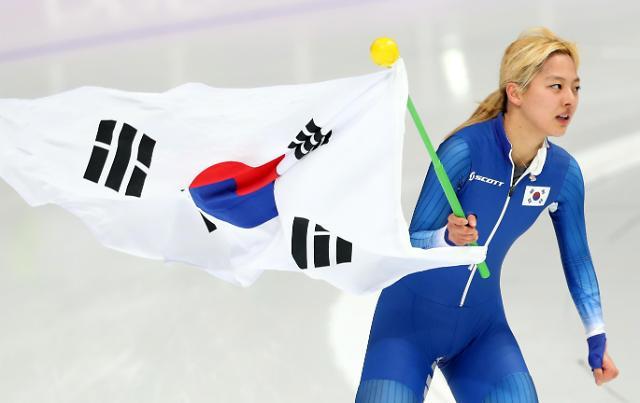 平昌冬奥速滑女子集体出发 韩国金宝凛摘银