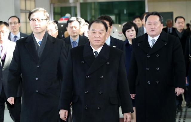 朝鲜金英哲率高级别代表团抵韩出席冬奥闭幕式