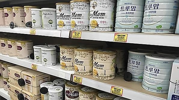 韩2017年对华奶粉出口同比锐减42%