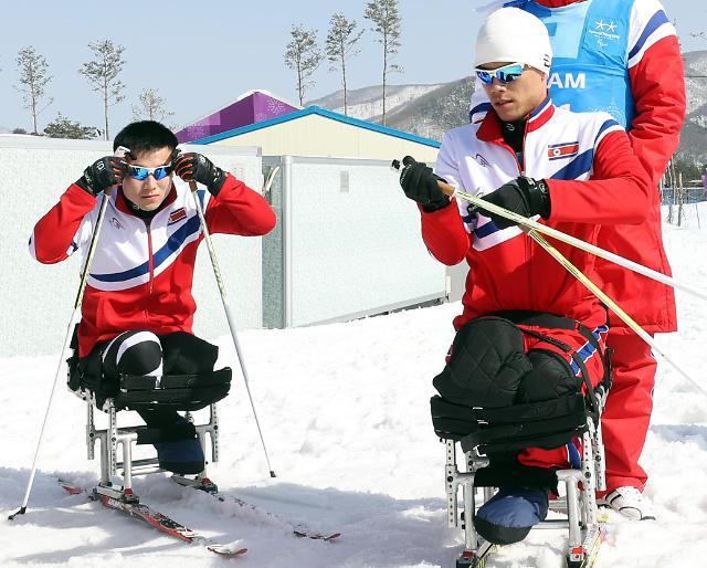 朝鲜体育代表团明结束冬残奥之旅返回