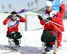 .朝鲜体育代表团明结束冬残奥之旅返回.