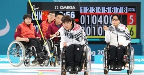 平昌冬残奥韩国轮椅冰壶7-6战胜中国 预赛第一进决赛