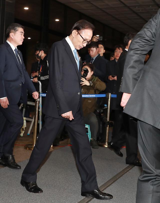 韩检方下周决定是否提捕前总统李明博