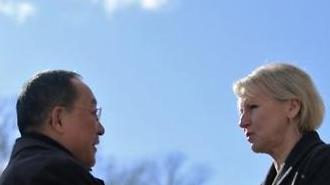 북·스웨덴 외교장관회담 종료…한반도 안보에 초점