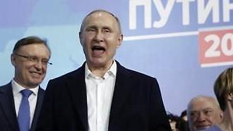 승자의 미소 푸틴 러시아 대선 승리 확정...임기 2024년까지 연장