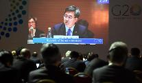 G20 재무장관회의에서 세계경제 위험요인 강조하는 김동연 부총리