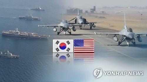 """韩美联合军演4月1日重启 """"鹞鹰""""训练缩短一个月"""
