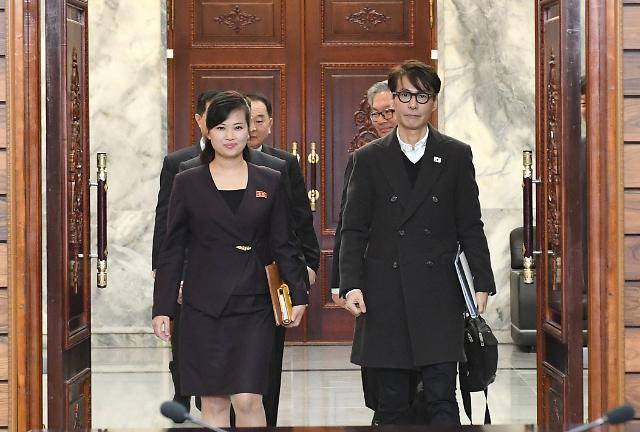 [포토] 남북 대표, 현송월-윤상