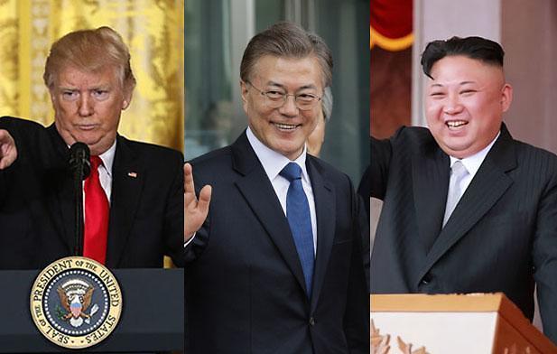 白宫对举行韩朝美三方对话表谨慎态度