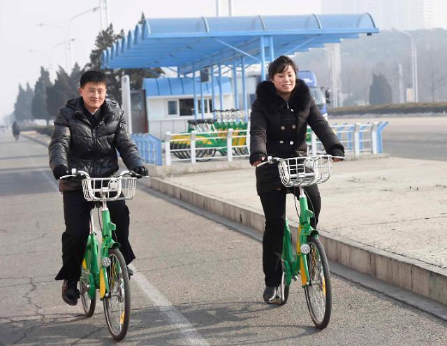 平壤也有共享单车啦!