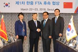 .韩中FTA首轮后续谈判在首尔启动.