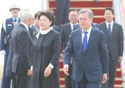 .文在寅结束海外巡访抵达韩国.