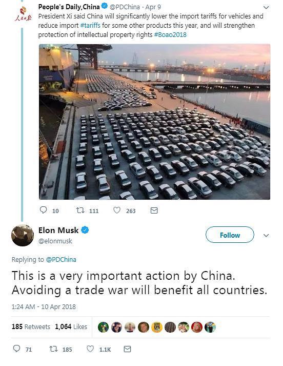 중국 자동차 시장개방 소식에...테슬라 '최대 수혜자'