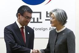 .韩日外长举行会谈共商半岛局势.