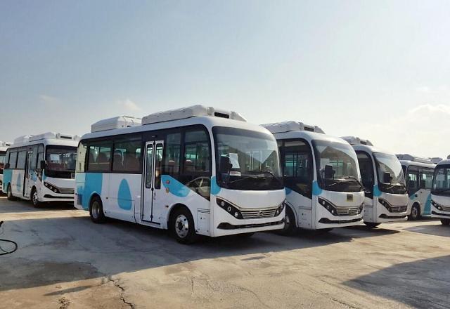 """比亚迪20辆电动巴士""""驶入""""韩国牛岛"""