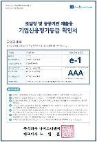 군인공제회 12년 연속 최우수기업 신용도(e-1) 유지