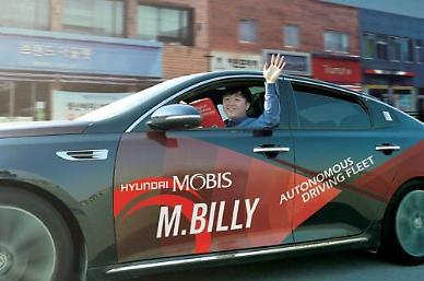.Hyundai Mobis to test run autonomous vehicle in US and other countries.