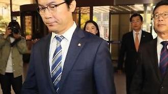 """김성태 """"드루킹, 한국당 왔다고 하자 접견실 박차고 나가"""""""