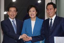 """박영선·우상호 """"정책연대로 결선 진출자 지지할 것"""""""