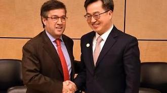 내년 초 한국 ICT 청년인재 50여명 중남미 보낸다...김동연 부총리, 모레노 미주개발은행(IDB) 총재 면담