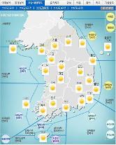 '날씨'전국 맑고 미세먼지'나쁨'..낮 최고25도