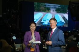 .韩朝首脑会谈主新闻中心的外国记者们.