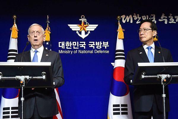 韩美防长通电话商定加强合作