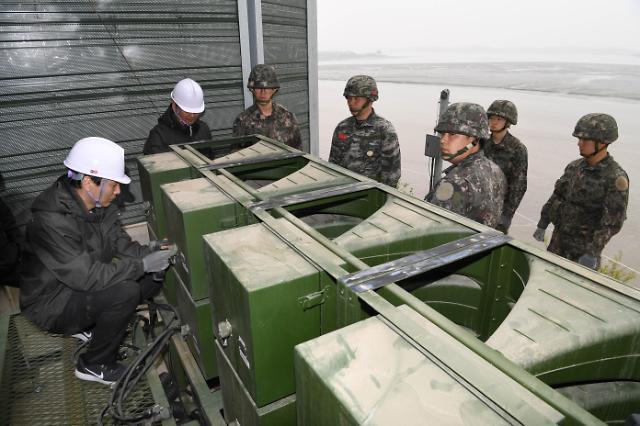 韩国拆除对朝扩音喊话设备
