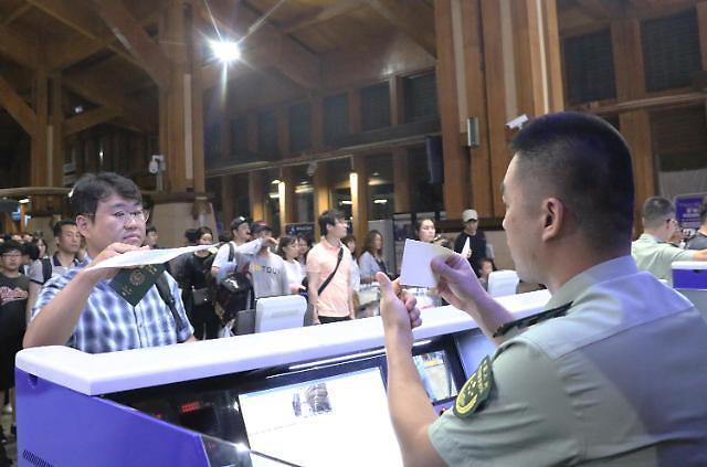 中国虽仍限韩 赴华旅游的韩国游客人数激增