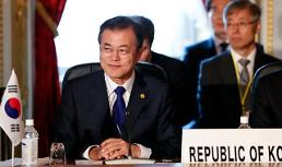 .President Moon praises Kim for fulfilling promise sincerely.