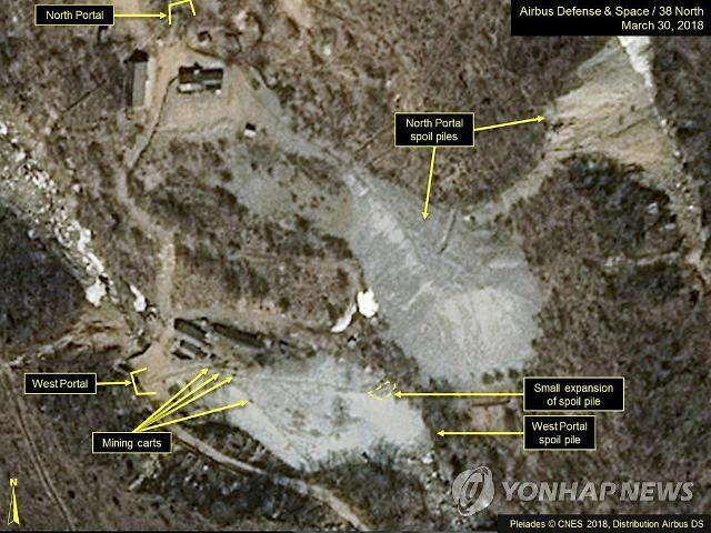朝鲜已着手拆除丰溪里核试验场设施