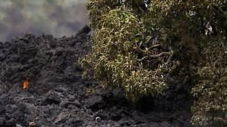 [글로벌포토] 하와이 화산 용암이 만든 벽...날아오른 용암에 첫 중상자 발생