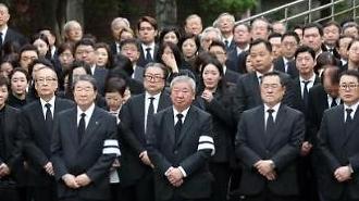 [포토] 故 구본무 LG 회장 발인, 슬픔에 잠긴 유가족들