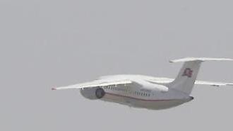 [포토] 한국 취재진 뒤로한 채 떠나는 고려항공 여객기