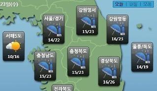 [오늘의 날씨 예보] 비 그친 뒤 중국발 황사, 마스크 필수…미세먼지 농도 WHO기준 오후 서울경기 '나쁨'