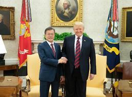 .韩美首脑会谈举行 特朗普表示若朝鲜落实无核化将保障其体制安全.